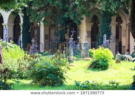 Historique cimetière Autriche Europe maison jardin Photo stock © Spectral