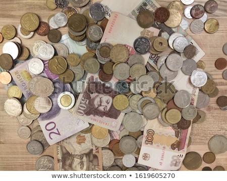 Foto stock: Edad · húngaro · billetes · mesa · dinero · textura