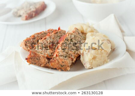 Turkey meatloaf with roasted potatoes stock photo © Klinker