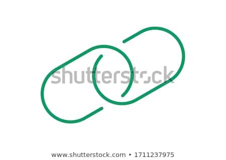 Korumalı bağlantı yeşil vektör ikon düğme Stok fotoğraf © rizwanali3d