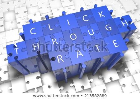 ctr   word on blue puzzles stock photo © tashatuvango