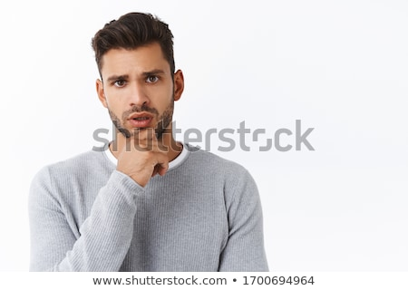 Bearded Adult Man Got Emotional Face Stock photo © ozgur
