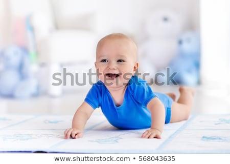 baby crawling on white sheet Stock photo © Mikko