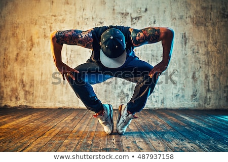 cool hip hop style dancer Stock photo © fanfo