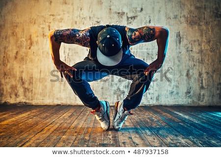 hideg · hip · hop · stílus · táncos · lövés · fehér - stock fotó © fanfo