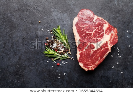 raw meat for barbecue stock photo © klinker