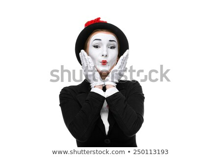 Stock photo: Portrait of the surprised and joyful mime