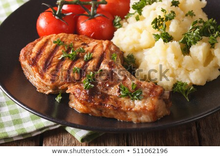 Mashed Potatoes With Pork Stock photo © saddako2