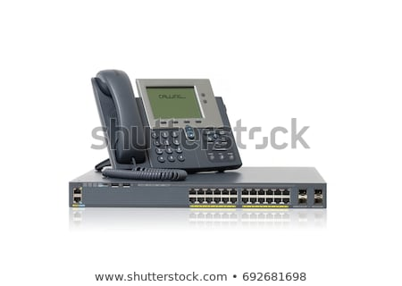 Phone switch system on white stock photo © vtls