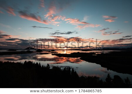Dawn over Lake Myvatn Stock photo © suerob