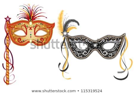 Velence · maszk · díszes · karnevál · zene · papír - stock fotó © jonnysek