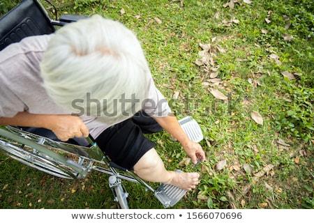 Schieten jezelf voet mooie vrouw sexy abstract Stockfoto © piedmontphoto