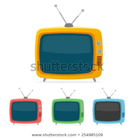 vector retro tv set flat colorful icons stock photo © freesoulproduction