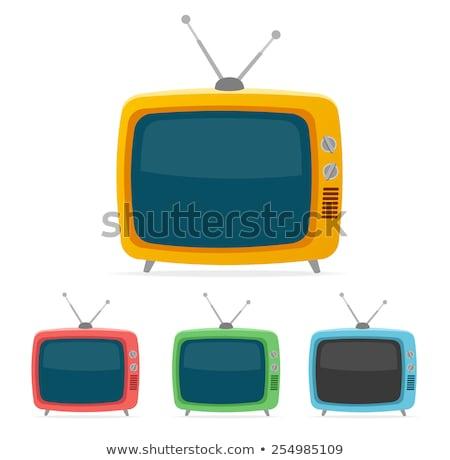 Vektor retro tv készülék színes ikonok televízió Stock fotó © freesoulproduction