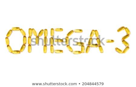Omega3 cápsulas espelho branco Foto stock © RuslanOmega