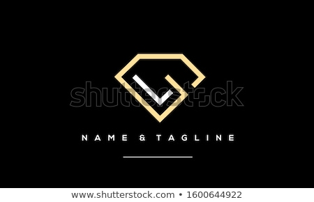 Lettre brillant diamant police fond Photo stock © logoff