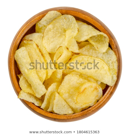 Stock photo: close up of white salt heap in wooden bowl