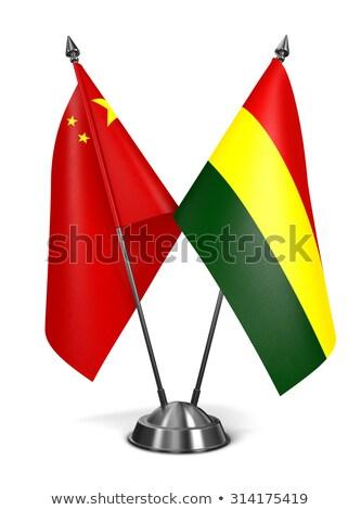 China and Bolivia - Miniature Flags. Stock photo © tashatuvango