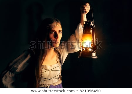 hekserij · sprookje · lamp · duisternis · vrouw - stockfoto © nicoletaionescu