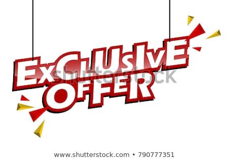 Exclusief deal Geel vector icon knop Stockfoto © rizwanali3d