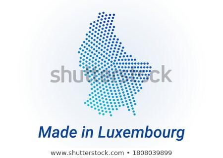 Luxemburgo país bandera mapa forma texto Foto stock © tony4urban