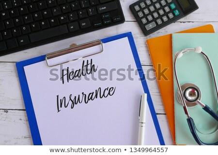 texto · escrito · clipboard · hospital · medicina · garrafa - foto stock © zerbor