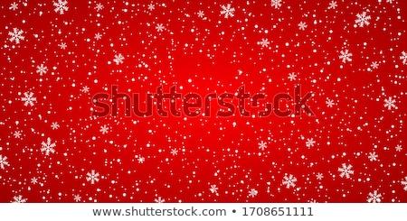 Rood christmas ornamenten abstract sneeuw Stockfoto © Valeriy