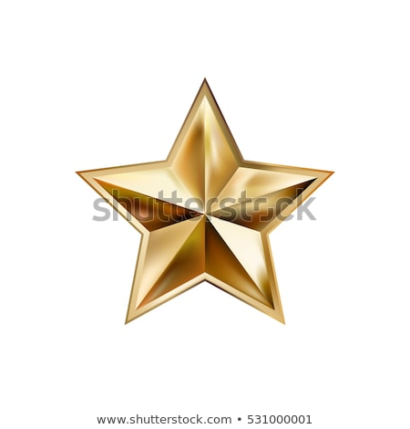 Hand and gold stars icons sign illustration Stock photo © alexmillos