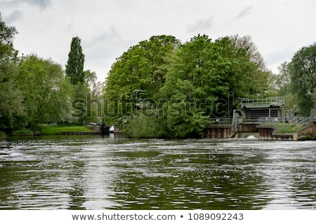 Stock photo: Sluice gate on the pond