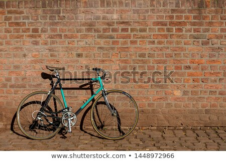 vintage bicycle leaning on the wall stock photo © stevanovicigor