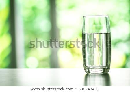 Víz üveg asztal asztal otthon egészség Stock fotó © CaptureLight