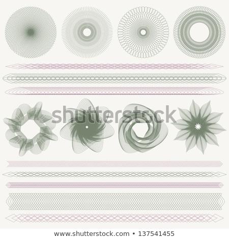 Guilloche rosette, vector pattern. EPS 8 Stock photo © beholdereye