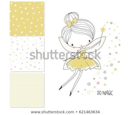 Cute fairy illustratie vliegen mooie bloemen Stockfoto © Dazdraperma