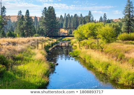 горные · пейзаж · забор · панорамный · гор - Сток-фото © meinzahn