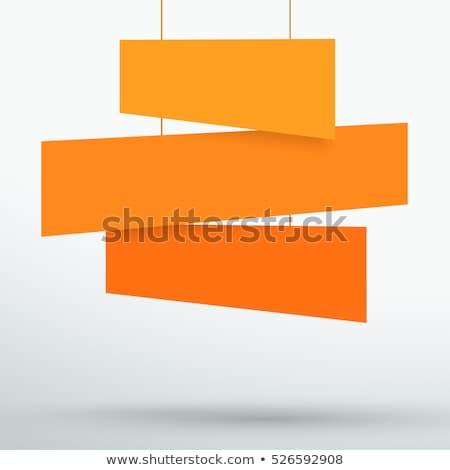 три оранжевый коробки белый Recycle Сток-фото © dezign56