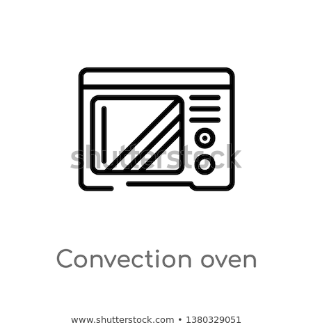 Sign with a microwave with convection oven Stock photo © Ustofre9