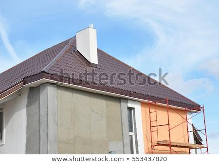 De trabajo estuco cemento aire libre casa hombre Foto stock © zurijeta
