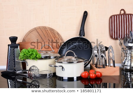 Kitchen appliances in black color Stock photo © bluering