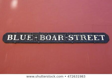 Azul verraco calle oxford placa de la calle histórico Foto stock © chrisdorney