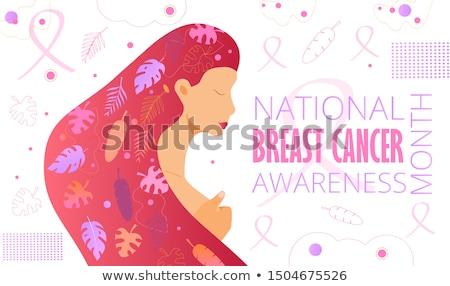 Peito saúde papel glândula rústico Foto stock © Lightsource