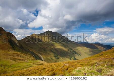лыжных курорта Альпы осень Австрия удивительный Сток-фото © CaptureLight