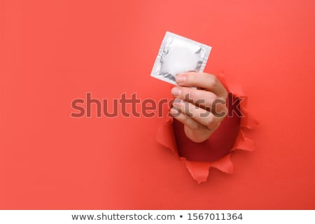 Prezervatif ikon vektör uzun gölge web Stok fotoğraf © smoki