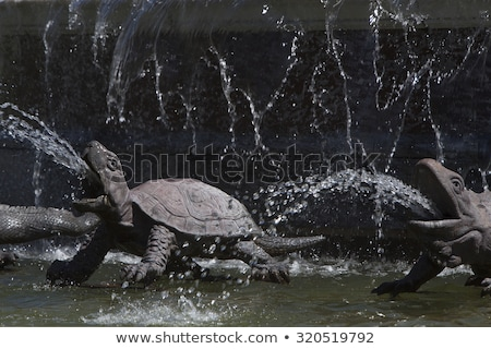 Closeup of statue Latona fountain at Herrenchiemsee, Bavaria Stock photo © kb-photodesign