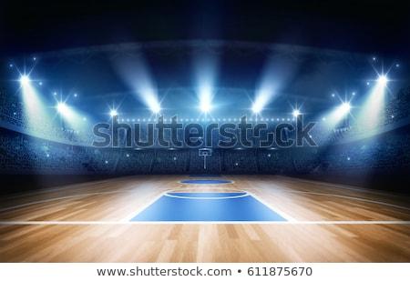 Kosárlabdapálya golyók égbolt fény egészség nyár Stock fotó © Kidza