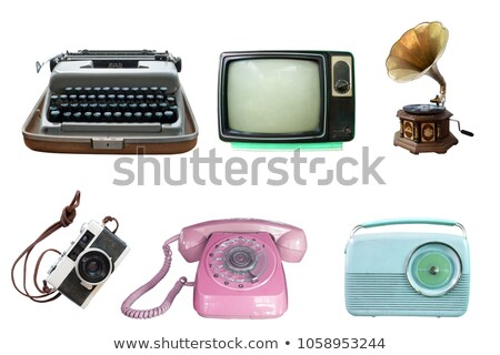 Collection of vintage retro home related objects isolated on whi Stock photo © stevanovicigor