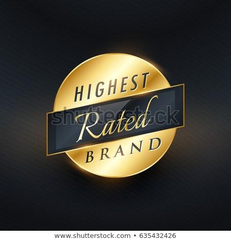merk · gouden · label · badge · ingesteld - stockfoto © sarts