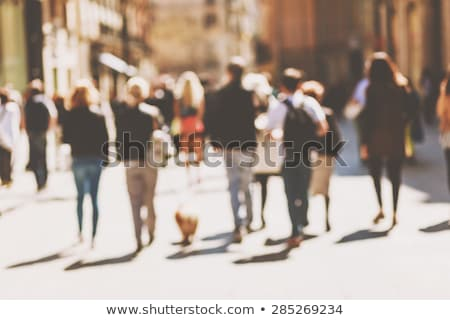 Street crowd, unrecognizable group of people from behind Stock photo © stevanovicigor