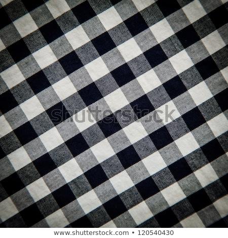 Close up checked fabric pattern Stock photo © szefei