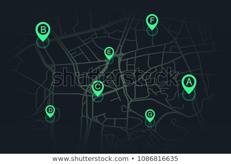 Blauw · technologie · gps · kaart · badge · knop - stockfoto © molaruso