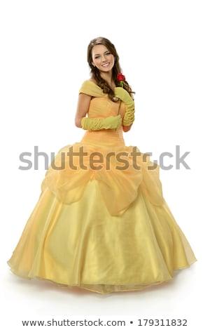 Beautiful princess isolated on white background  Stock photo © JackyBrown